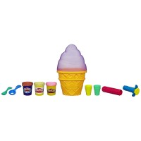 Play-Doh Sweet Shoppe Ice Cream Cone Container - Purple