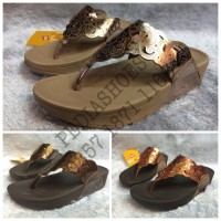 Jual  Sandal Jepit Wanita Fitflop Flora Metallic GROSIR dan ECERAN T1310 Murah