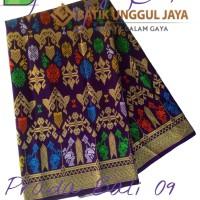 Harga kain batik pekalongan primisima halus prada bali 09 ungu unggul | Hargalu.com