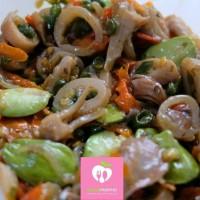 Cumi Pete Cabe Ijo dan Rawit Saus Abalone Dapur Phopho