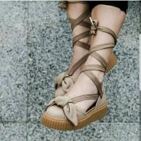 Sandal Puma Fenty Bow Creepers X Fenty Rihanna Brown Premium Quality 1096cff927