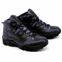 Garsel GAJ - Sepatu boots crocodile|sepatu gunung adventure ori hitam