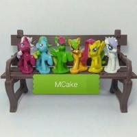 Jual Topper Cake/Topper kue Figure Little Poni/Patung kuda Poni/Boneka Murah