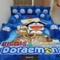 Karpet karakter bulu rasfur murah 5cm uk 150x200 doraemon biru tipe 3