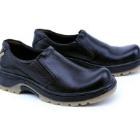 Jual Sepatu pria safety boots kulit|Safety shoes slip on distro Bandung GHR Murah
