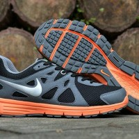 sepatu Nike Revolution 2 Running Sport Original grey orange