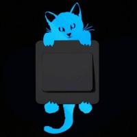 Jual Blue-light Luminous Home Wall Cartoon Glow Decoration Sticker Stiker Murah