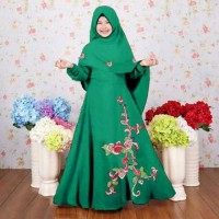 elegan premium branded murah mewah baju anak muslim syari gamis maxi