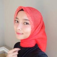 Jual jilbab Organza ruby / segi empat organza rubi Murah
