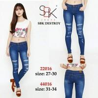 Jual (Size 27-30) Celana Jeans Ripped Sbk Destroy Murah
