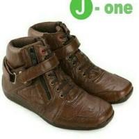 Sepatu J-one Shoes Boots Elario Brown Dack