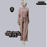 jumpsuit wanita hijab muslim celana panjang jamsuit jumsuit abu coklat