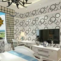 Jual wallpaper sticker motif polkadot Murah