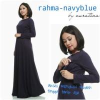 Jual Manset menyusui / gamis ibu hamil menyusui Rahma spandek by nuratina Murah