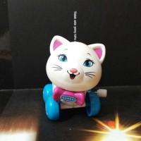 Jual mainan kucing putih mekanik Murah