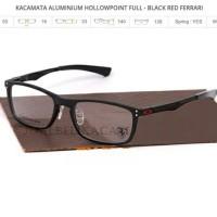 frame kacamata oakley hollow point black ferrari (full)