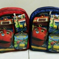 Tas ransel anak sekolah TK PAUD gendong backpack Chuggington murah