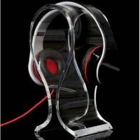 Jual Stand Holder Display Headphone Headset Acrylic Universal Murah