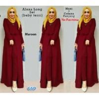NCR-Setelan Baju Muslim Wanita Terbaru-Set Alexa Maroon