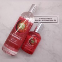 Paket Bodymist & Parfum Strawberry The Body Shop Ori Riject
