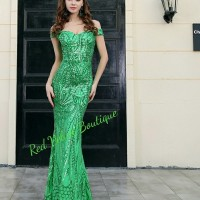 Green Long Maxi Party Night Gown Wedding Prewed Bride Prom Dress IMPOR