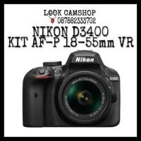 KAMERA DSLR NIKON D3400 D 3400 KIT AF-P 18-55mm VR
