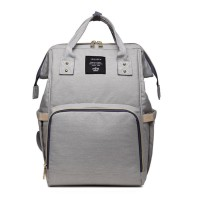 Tas Bayi Fashion Nappy Diaper Bag Multifungsi Backpack LeQueen - Abu