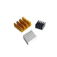 Jual Heatsink Aluminium 1 set (Gold,Black,Silver) Raspberry PI 3/2 Murah