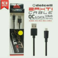 Jual Delcell Zaxti Quick Charging 3A Charger and Data Cable 80cm Murah