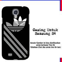 Jual Casing Samsung S4 adidas logo stripe white Custom Hardcase Murah