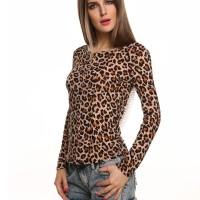 Jual Blouse Atasan Wanita Leopard Low Back (L) 191430 Original SALE Murah