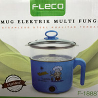 Jual mug elektrik multifungsi Fleco F-1888T stainless ( Steam/ Egg Boiler) Murah