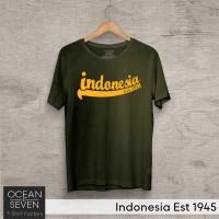 Jual Baju CInta Indonesia Est 1945 # Kaos / Raglan / Tshirt Ocean Seven Murah