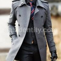 Jual OVERCOAT MANTEL MUSIM DINGIN GREY SHINICHI KUDO Coat Blazer Overcoat Murah