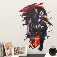 Captain America Wallsticker Wallpaper Sticker Dekorasi Dinding Promo