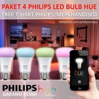 Jual Paket Lampu LED Philips HUE Bulb Color 4 pcs Murah