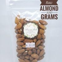 Jual Raw Organic Almond   Kacang Almond Mentah Organik 100gr   ASI BOOSTER Murah