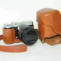 Jual Leather Bag Case Tas Kulit Kamera Fujifilm XA1/X-A1/XA2/X-A2/X-M1/XM1  Murah