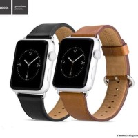 Apple Watch Classic Saddle Brown Leather Strap, Hoco Calf Leather