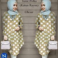 tunic blouse gamis polkadot katun Murah
