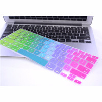 Jual Rainbow Color Silicone Keyboard Cover Protector Skin for Macbook Air 1 Murah