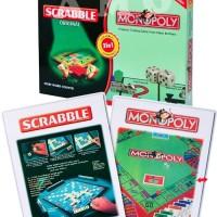 Jual 2IN1 MONOPOLI AND SCRABBLE ORIGINAL - MAINAN BOARD GAME Murah