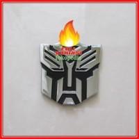 Jual HOT! Emblem Transformer Autobots Chroom 7x7cm Murah