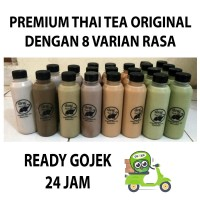 Jual Thai Tea Original, Green Tea, Milo, Chocolate 8 Varian Ready GOJEK Murah