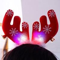 Jual Bando Rusa Natal Unik LED Nyala Lampu Aksesoris Pesta Kristen Tanduk K Murah