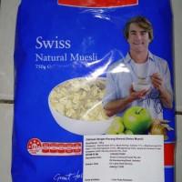 Jual LOWAN SWISS Muesli, Natural Muesli [Oatmeal dengan Kacang Almond] Murah