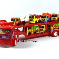 Truck Pengangkut Kendaraan + 6 pcs Truck Kecil