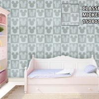 Wallpaper dinding motif mickey mouse