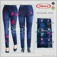 Jual Sorex Celana Legging 2966 Bukan Celana Jeans Tapi Motif Jeans Corak Murah