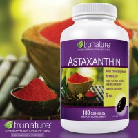 Trunature Astaxanthin 6 mg , 100 Softgels Super Antioxodant & Antiag
